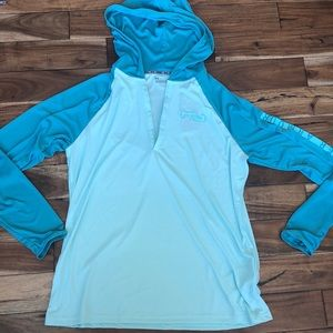 NWT- Under Armour hooded FISH shirt